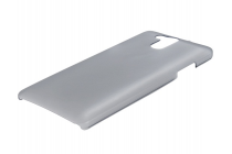 Фирменная задняя панель-крышка-накладка из тончайшего и прочного пластика для Elephone P7000 серая