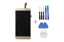 Фирменный LCD-ЖК-сенсорный дисплей-экран-стекло с тачскрином на телефон Elephone P7000 золотистый + гарантия