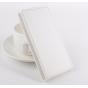 Фирменный оригинальный вертикальный откидной чехол-флип для Elephone P7000 белый кожаный