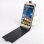 Фирменный оригинальный вертикальный откидной чехол-флип для Elephone P7000 черный из натуральной кожи
