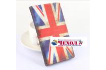 """Фирменный уникальный необычный чехол-книжка для Elephone P7000 """"тематика Британский флаг"""""""