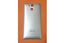 Родная оригинальная задняя крышка-панель которая шла в комплекте для Elephone P7000 серебристая