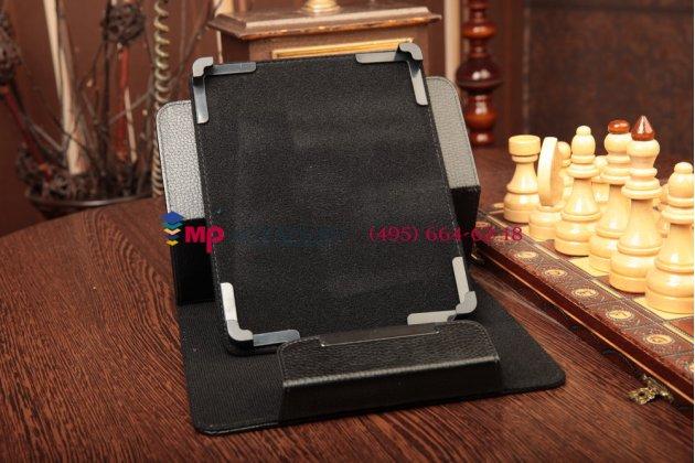 Чехол-обложка для Explay Informer 921 черный кожаный