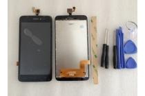 Фирменный LCD-ЖК-сенсорный дисплей-экран-стекло с тачскрином на телефон Explay Rio / Explay Rio Play черный + гарантия