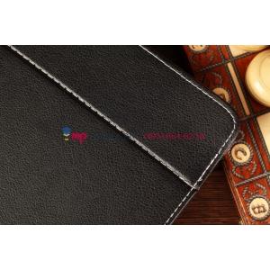 Чехол-обложка для Explay Surfer 8.01 черный кожаный