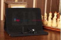 Чехол-обложка для Explay Surfer 8.02 черный кожаный