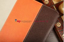 """Чехол-обложка для Explay sQuad 10.01 коричневый кожаный """"Deluxe"""""""