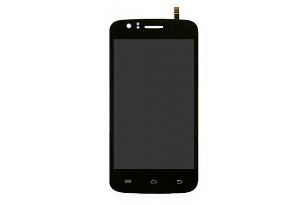 Фирменный LCD-ЖК-сенсорный дисплей-экран-стекло с тачскрином на телефон Explay Atom черный + гарантия