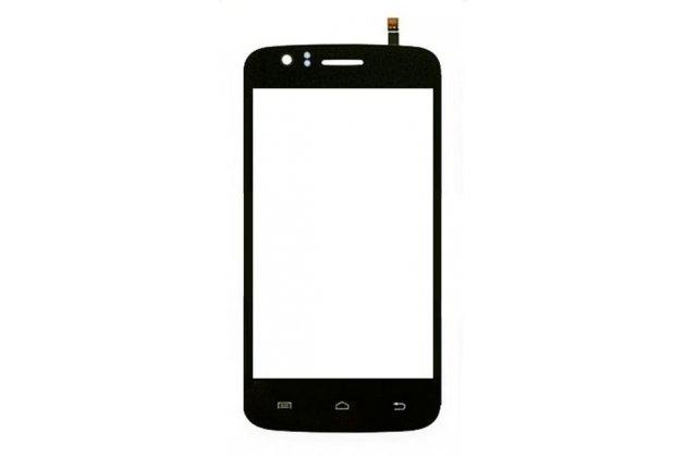 Фирменный сенсорный дисплей-стекло-тачскрин на телефон Explay Atom черный + гарантия