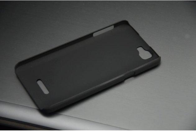 Фирменная необычная из легчайшего и тончайшего пластика задняя панель-чехол-накладка для Explay Fresh черная