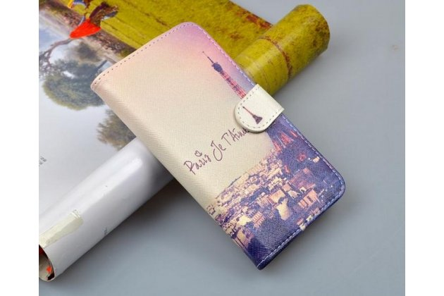 """Фирменный уникальный необычный чехол-подставка для Explay Fresh  """"тематика Париж"""""""