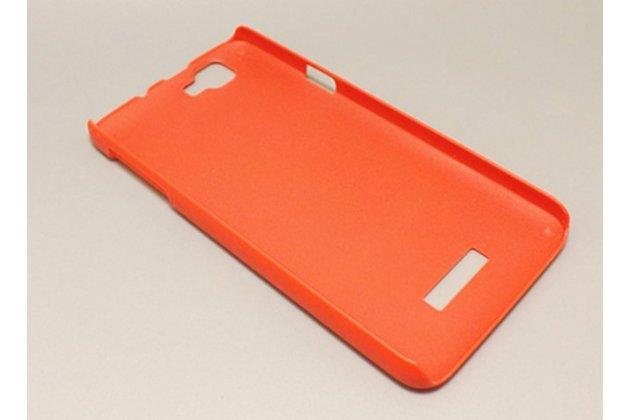 Фирменная задняя панель-крышка-накладка из тончайшего и прочного пластика для Explay Fresh красная