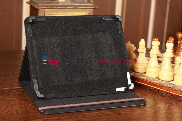 Чехол-обложка для Explay Informer 920 черный кожаный