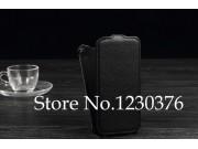Фирменный оригинальный вертикальный откидной чехол-флип для  Explay X5 черный из натуральной кожи