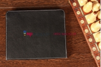 Чехол-обложка для  черный кожаный Explay sQuad 9.71