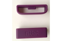 Фирменный оригинальное крепление-пряжка-скоба к силиконовому ремешку для умного фитнес-браслета Fitbit Charge HR разноцветный