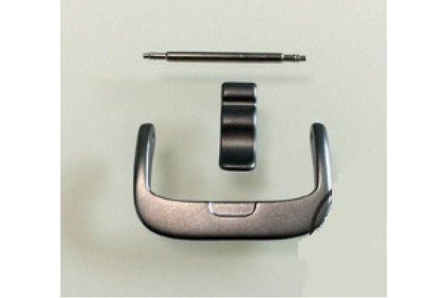 Фирменная оригинальная металлическая пряжка к силиконовому ремешку для умного фитнес-браслета Fitbit Charge HR