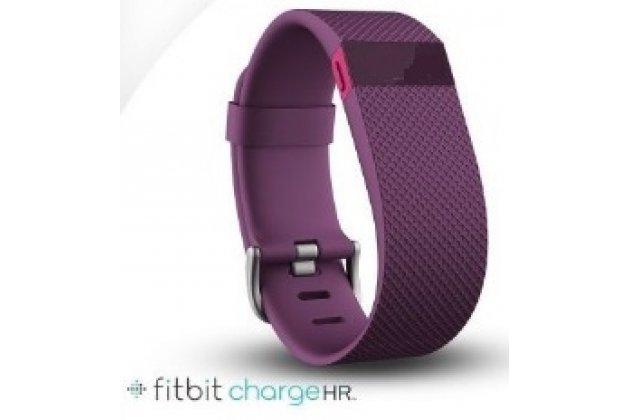 Фирменный необычный сменный силиконовый ремешок для умных смарт-часов Fitbit Charge HR разноцветный