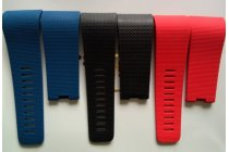 Фирменный необычный сменный силиконовый ремешок для умных смарт-часов Fitbit Surge разноцветный