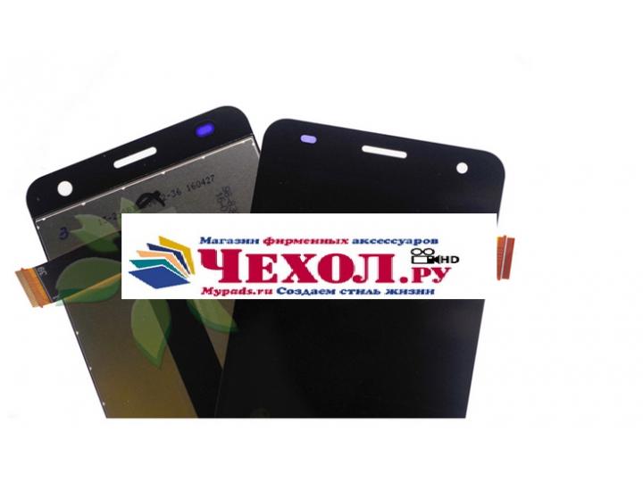 Фирменный LCD-ЖК-сенсорный дисплей-экран-стекло с тачскрином на телефон Fly Cirrus 2 (FS504) черный + гарантия..