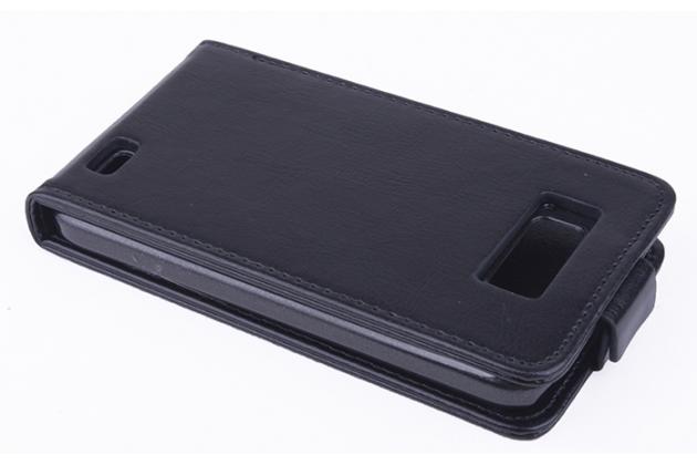"""Фирменный вертикальный откидной чехол-флип для Fly IQ441 Radiance""""  черный"""