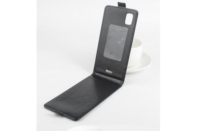 """Фирменный вертикальный откидной чехол-флип для Fly IQ4601 ERA Style 2""""  черный"""