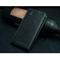 """Фирменный оригинальный вертикальный откидной чехол-флип для Fly Nimbus 2 (FS452)  черный из натуральной кожи """"Prestige"""" Италия"""