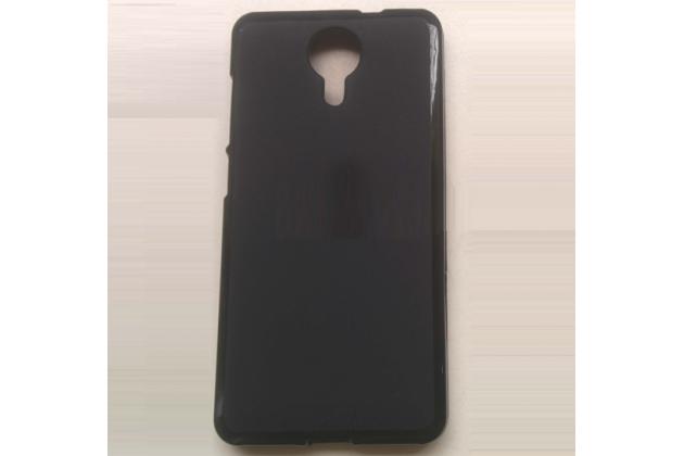 Фирменная ультра-тонкая полимерная из мягкого качественного силикона задняя панель-чехол-накладка для  Fly Wileyfox Swift черная