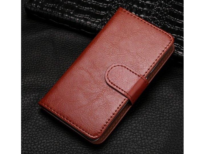 Фирменный чехол-книжка из качественной импортной кожи с подставкой застёжкой и визитницей для Fly IQ4418 ERA S..