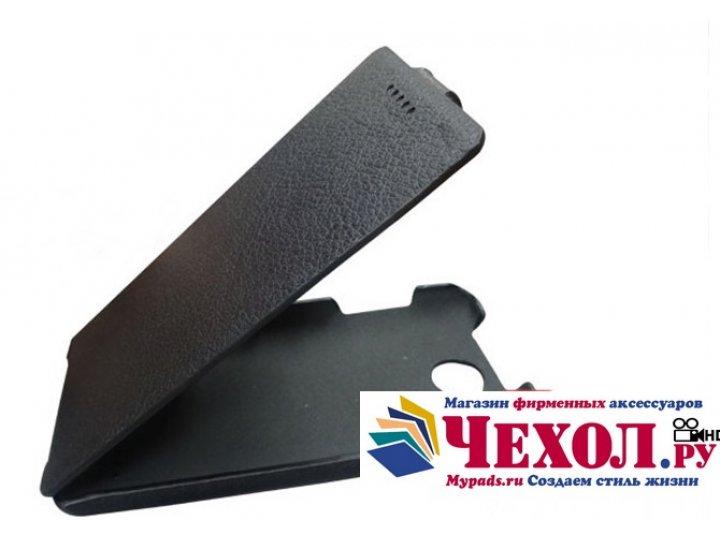 Фирменный вертикальный откидной чехол-флип для Fly IQ4418 ERA Style 4 черный..