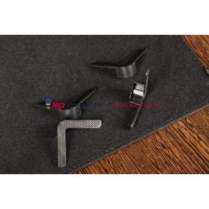 Чехол-обложка для Fly Flylife 8 черный кожаный