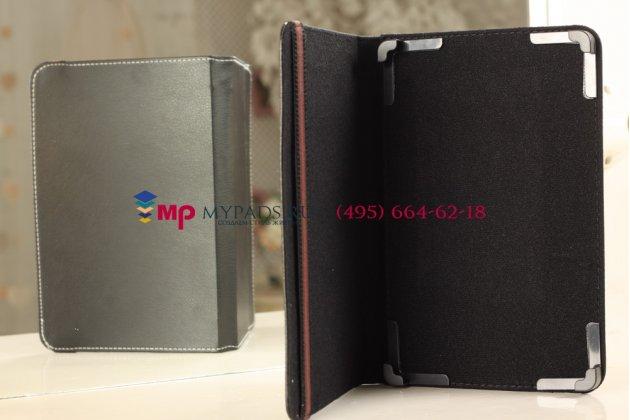 Чехол-обложка для Fly IQ360 черный кожаный