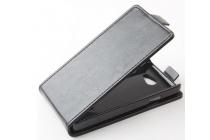 """Фирменный вертикальный откидной чехол-флип для Fly IQ4403 Energie 3""""  черный"""