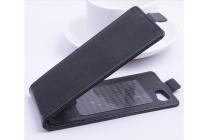 """Фирменный вертикальный откидной чехол-флип для Fly IQ4413 EVO Chic 3 Quad""""  черный"""