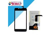 """Фирменное LCD-ЖК-экран-сенсорное стекло-тачскрин для телефона Fly IQ441 Radiance"""" черный и инструменты для вскрытия + гарантия"""