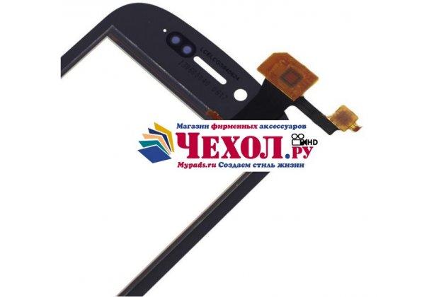 Фирменное сенсорное стекло-тачскрин на Fly IQ448 Chic  черный и инструменты для вскрытия + гарантия