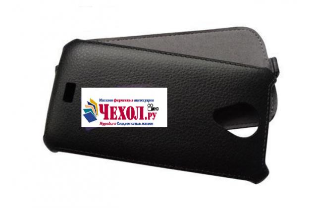 """Фирменный вертикальный откидной чехол-флип для Fly IQ450 Quattro Horizon 2/ IQ450 Horizon""""  черный"""