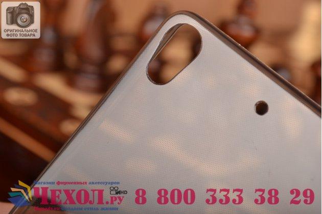 Фирменная ультра-тонкая полимерная из мягкого качественного силикона задняя панель-чехол-накладка для Fly IQ4516 Tornado Slim Octa черная