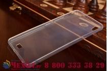 Фирменная ультра-тонкая полимерная из мягкого качественного силикона задняя панель-чехол-накладка для Fly IQ4516 Tornado Slim Octa белая