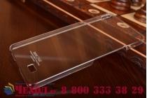 Фирменная задняя панель-крышка-накладка из тончайшего и прочного пластика для Fly IQ4516 Tornado Slim Octa прозрачная