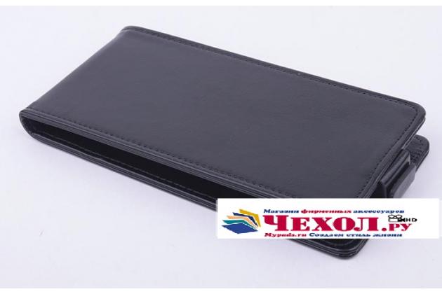 """Фирменный вертикальный откидной чехол-флип для Fly IQ452 Quad EGO Vision 1""""  черный"""