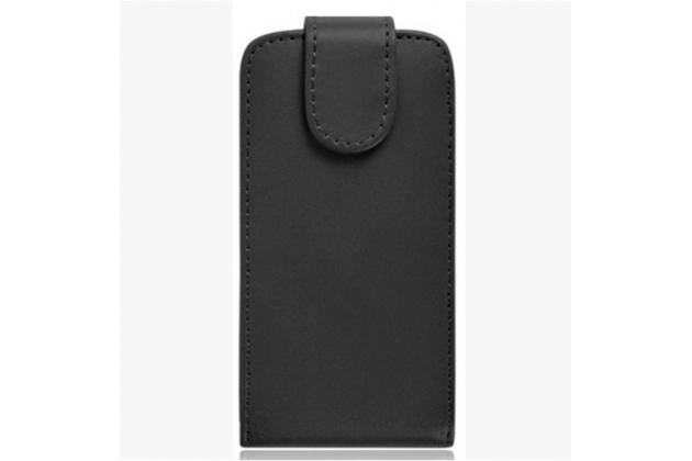 """Фирменный вертикальный откидной чехол-флип для Fly IQ454 EVO Tech 1""""  черный"""