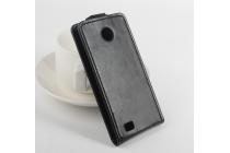 """Фирменный вертикальный откидной чехол-флип для Fly Pronto IQ449""""  черный"""