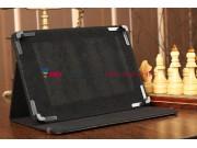 Чехол-обложка для Fujitsu STYLISTIC M532 черный кожаный..