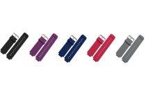 Фирменный необычный сменный силиконовый ремешок  для умных смарт-часов Garmin Fenix 2 разноцветный