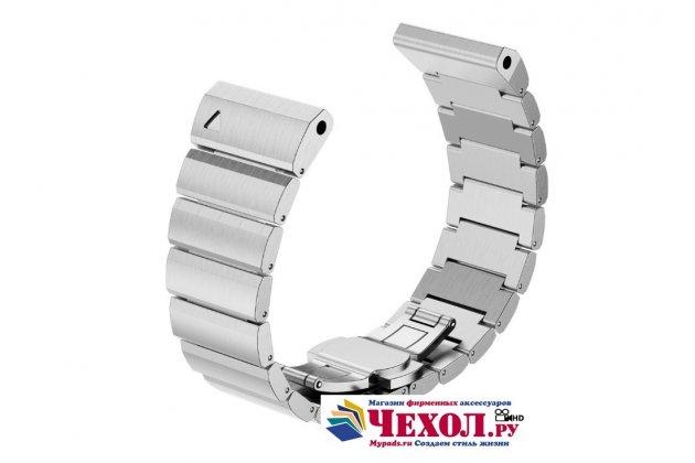 Фирменный необычный сменный стальной ремешок для умных смарт-часов Garmin Fenix 3/Fenix 3 HR/HRM из нержавеющей стали серебристый + инструменты для вскрытия