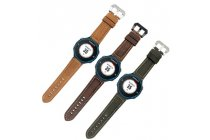 Фирменный сменный кожаный ремешок для умных смарт-часов Garmin Forerunner 220/225/230/235/620/630/735XT из качественной импортной кожи