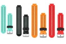 Фирменный необычный сменный силиконовый ремешок  для умных смарт-часов Garmin Forerunner 220/225/230/235/630/735XT разноцветный + инструменты для вскрытия