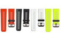 Фирменный необычный сменный силиконовый ремешок  для умных смарт-часов Garmin vivoactive HRM/HR разноцветный + инструменты для вскрытия