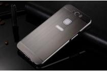 """Фирменная металлическая задняя панель-крышка-накладка из тончайшего облегченного авиационного алюминия для Gigaset ME Pro 5.5"""" (GS57-6)  черная"""